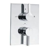 Fusion термостат для ванны/душа в комплекте со встраиваемым механизмом/частями для наружного/ скрытого монтажа (FUS-CHR-29671)