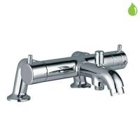 "Florentine термостат для ванны/душа , регулировка расхода, переключатель ванна/душ, аэратор, отвод для душа снизу 1/2"", монтаж на борт ванны (FLR-CHR-5659)"