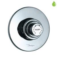 Metropole двойной смывной вентиль для унитаза, скрытый монтаж, круглая металлическая накладная пластина (FLV-CHR-1089N)