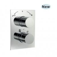 Florentine термостат для ванны/ душа в комплекте со встраиваемым механизмом/частями для наружного/ скрытого монтажа (FLR-CHR-5671HF)