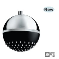 Верхний душ с подсветкой LED, диаметр 180mm цвет черный мат (OHS-BLM-1763)