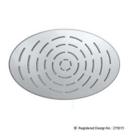 Maze Overhead Shower 340X220mm Oval Shape Single Flow (OHS-CHR-1635)