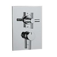 Solo термостат для ванны/душа в комплекте со встраиваемым механизмом/частями для наружного/ скрытого монтажа (SOL-CHR-6671)