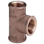 Бронзовые резьбовые фитинги и удлинители для кранов из красной бронзы с резьбой по DIN 2999-1 Виега Viega