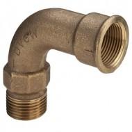 Отводы бронзовые Резьбовые фитинги и удлинители для кранов из красной бронзы с резьбой по DIN 2999-1 Виега Viega