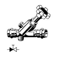 CRV наклонный вентиль свободного потока Easytop Inox Модель 2338