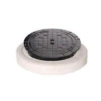 Комбинированная крышка люка DN/OD 400 бетон и чугун B125 (12,5 т) без вентиляции